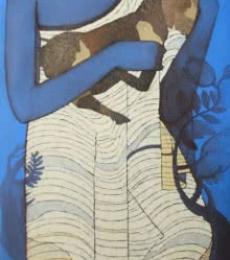 Figurative Acrylic Art Painting title 'Buddha I' by artist Siddharth Shingade