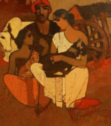 My Family | Painting by artist Siddharth Shingade | acrylic | Canvas