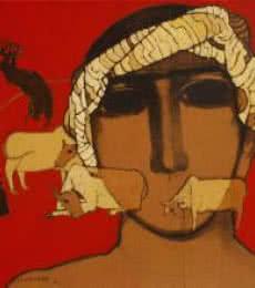 Siddharth Shingade | Acrylic Painting title The Shepherd Boy on Canvas | Artist Siddharth Shingade Gallery | ArtZolo.com