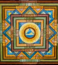 Yin - yang Mandala..36x 36 | Painting by artist Manju Lamba | acrylic | Yin-Yang Mandala.