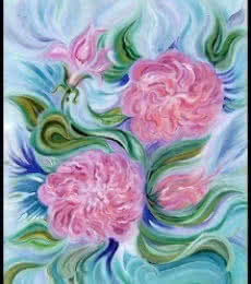 Aura of Roses | Painting by artist Manju Lamba | acrylic | Canvas