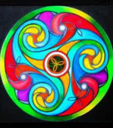 Lifestyle Acrylic Art Painting title 'Wheel of Life' by artist Manju Lamba