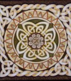 Lifestyle Acrylic Art Painting title 'Celtic Rope Mandala big' by artist Manju Lamba
