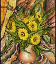 Sunflowers in a Vase | Painting by artist Manju Lamba | acrylic | Canvas
