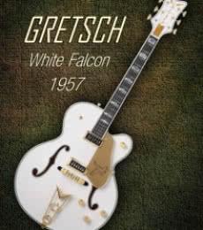 Gretsch White Falcon 1957 | Photography by artist Shavit Mason | Art print on Canvas