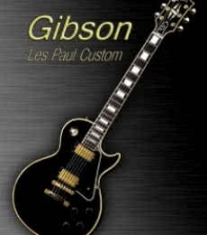 Black Gibson Les paul Custom | Photography by artist Shavit Mason | Art print on Canvas