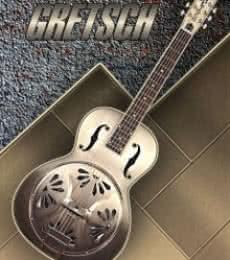 Old Gretsch Acoustic Resonator | Photography by artist Shavit Mason | Art print on Canvas
