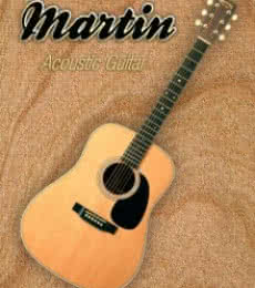 Wonderful Martin Acoustic Guitar | Photography by artist Shavit Mason | Art print on Canvas