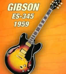 Gibson - es - 345 1959 | Photography by artist Shavit Mason | Art print on Canvas