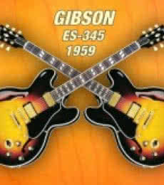Double gibson-es-345 1959 | Photography by artist Shavit Mason | Art print on Canvas