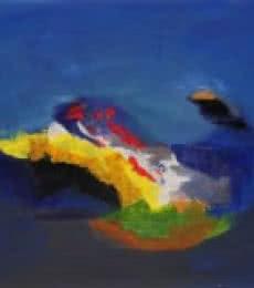 Blue Ride IV | Painting by artist Sadhna Raddi | acrylic | Paper
