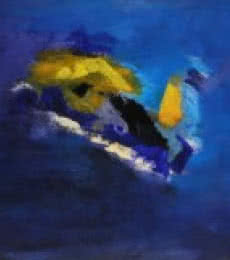 Blue Ride V | Painting by artist Sadhna Raddi | acrylic | Paper