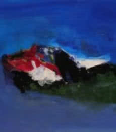 Blue Ride VI   Painting by artist Sadhna Raddi   acrylic   Paper