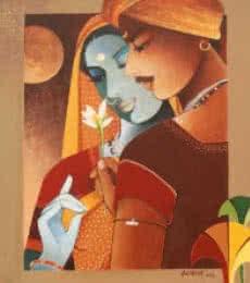 Love I | Painting by artist Agacharya A | acrylic | Canvas