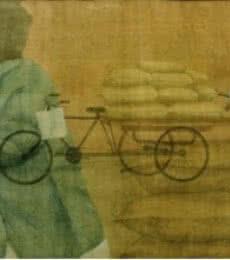 Mazdoori | Painting by artist Gulab Kapadiya | watercolor | Paper