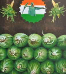 Paisa | Painting by artist Bhavesh Patel | mixed-media | Canvas