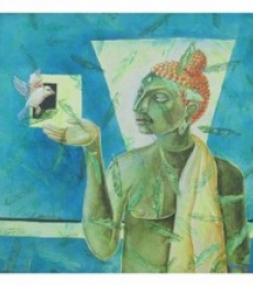 BUDDHA | Painting by artist Shiv Kumar Swami | acrylic | Canvas