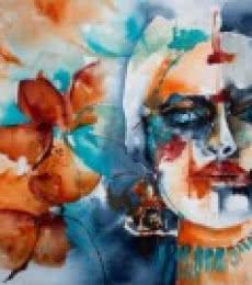 Hijra | Painting by artist Veronique Piaser-moyen | Watercolor | Paper