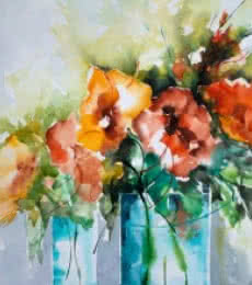Les Indes galantes | Painting by artist Veronique Piaser-moyen | watercolor | Paper