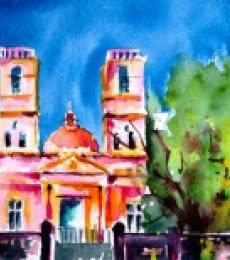 Notre Dame des Anges | Painting by artist Veronique Piaser-moyen | watercolor | Paper