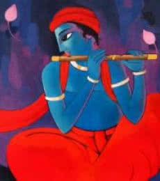 Krishna vii | Painting by artist Sekhar Roy | acrylic | Canvas