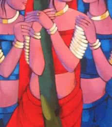 Gopiya | Painting by artist Sekhar Roy | acrylic | Canvas