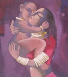 Sekhar Roy | Acrylic Painting title My Mother2 on Canvas | Artist Sekhar Roy Gallery | ArtZolo.com