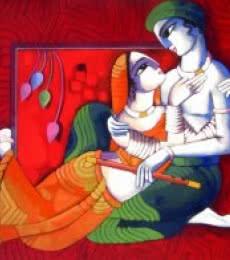 Romantic Couple 8 | Painting by artist Sekhar Roy | acrylic | canvas