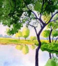 Rahul Salve | Watercolor Painting title A Quiet Place on Paper | Artist Rahul Salve Gallery | ArtZolo.com