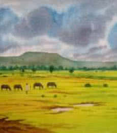 Cloudy Day | Painting by artist Rahul Salve | watercolor | Paper
