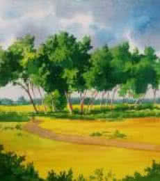 Rahul Salve | Watercolor Painting title Nature on Paper | Artist Rahul Salve Gallery | ArtZolo.com