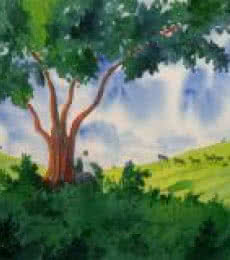 Nature's Vicinity | Painting by artist Rahul Salve | watercolor | Paper