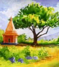 Temple | Painting by artist Rahul Salve | watercolor | Paper
