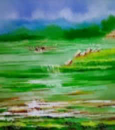 Landscape IV | Painting by artist Narayan Shelke | oil | Canvas