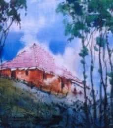 Narayan Shelke | Watercolor Painting title Cityscape II on Paper | Artist Narayan Shelke Gallery | ArtZolo.com