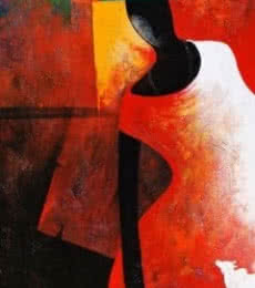 Figurative Acrylic Art Painting title 'The Monk I' by artist Narayan Shelke