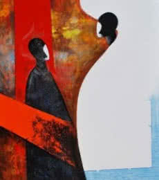 Narayan Shelke | Acrylic Painting title Untitled on Canvas | Artist Narayan Shelke Gallery | ArtZolo.com