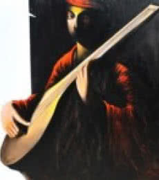 The Musician I | Painting by artist Narayan Shelke | acrylic | Canvas
