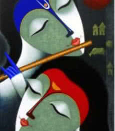 Rhythm Of Love V | Painting by artist Santosh Chattopadhyay | acrylic | Canvas