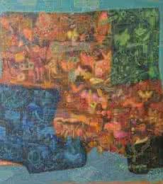 Nature Acrylic Art Painting title 'Mi Rage' by artist Pinaki Ranjan Bera