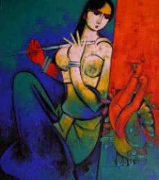 Vibrant Music | Painting by artist Arvind Kolapkar | acrylic | Canvas