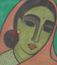 Head III | Painting by artist Mamta Mondkar | acrylic | Canvas