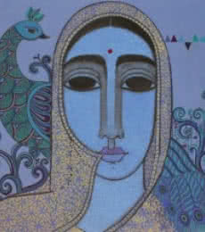 Towards Tradition | Painting by artist Mamta Mondkar | acrylic | Canvas