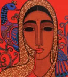 Towards Tradition II | Painting by artist Mamta Mondkar | acrylic | Canvas