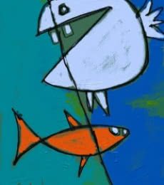 Fish | Digital_art by artist Nedunseralathan Rajamanickam | Art print on Canvas