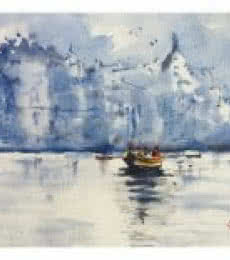 Banaras - The holy place   Painting by artist Soven Roy   watercolor   Paper