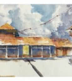 House At Wai 1 | Painting by artist Soven Roy | watercolor | Paper