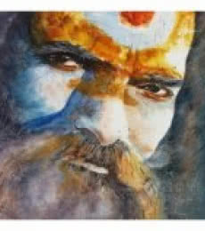 Indian Sage | Painting by artist Soven Roy | watercolor | Paper
