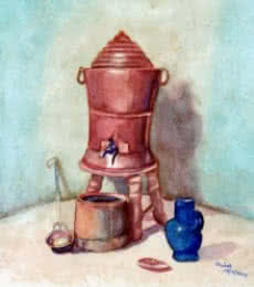 Still-life Watercolor Art Painting title 'Still Life 1' by artist Guru Rajesh