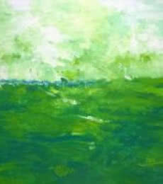 Nature Acrylic Art Painting title 'Green Fields' by artist Shubhamshiva